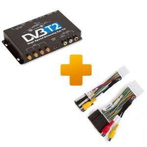 Цифровий тюнер DVB T2 та кабель під'єднання для моніторів Toyota Touch, Scion Bespoke