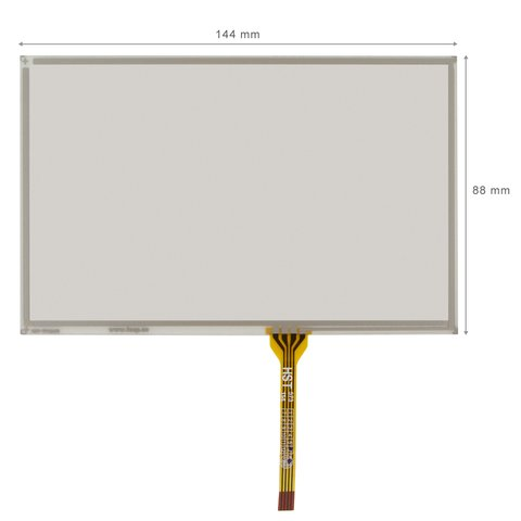 """5.8"""" Flexible Touch Screen Panel with Glimmer Protection"""