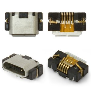 Charge Connector for Blackberry 9380, 9790 Cell Phones, (5 pin, micro USB type-B)