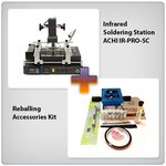 Infrared BGA Rework Station ACHI IR-PRO-SC + Reballing Accessories Kit