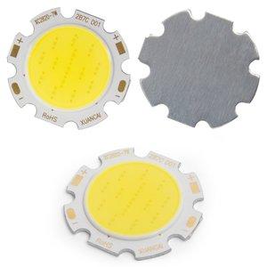 COB LED Chip 7 W (cold white, 650 lm, 28 mm, 300 mA, 21-23 V)