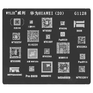 BGA Stencil UD, (PM8029, MT6628Q, MT6589WK, MT6582, MT6323GA, MT6320GA, MT6166, MSM8916, HI6220, H9TP32A4GDMC, B608, 20 in 1)