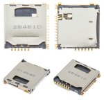 Conector de tarjeta SIM puede usarse con Samsung C3010, P900, S5230 Star, S5230W, con el conector de tarjeta de memoria