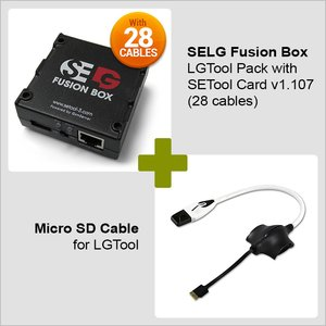 SELG Fusion Box Standard Pack с картой SE Tool v1.107 (28 кабелей)  + Micro SD кабель для LG Tool