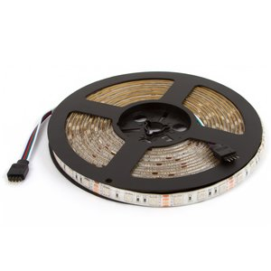 Светодиодная лента RGB SMD5050 (сверхъяркая, 300 светодиодов, 12 В DC, 5 м)