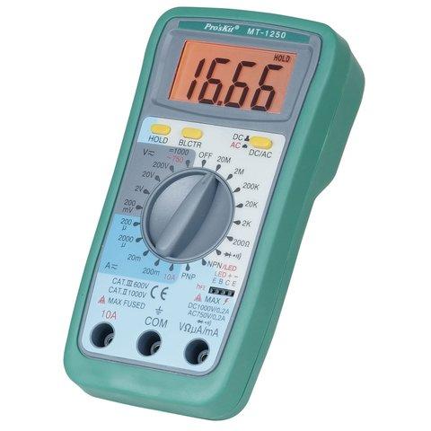 Профессиональный цифровой мультиметр Pro'sKit MT 1250