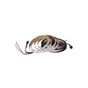 Світлодіодна стрічка RGB SMD5050, SK9822 (біла, з управлінням, IP20, 5 В, 60 діодів/м, 5 м)